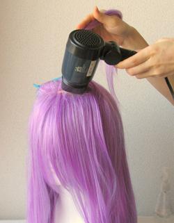 前髪の途中からM字ワンレン実験