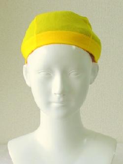 水泳帽で長い地毛をコンパクトに